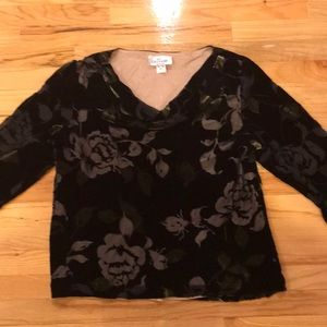 Cattiva New York Velvet silk soft blouse Sz 18